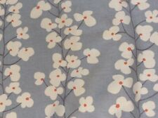 John Lewis curtain fabric 'Wallflowers' slate (blue) - 3 metres