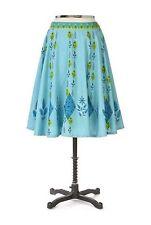 """8 Whimsical Anthropologie Flower Leaf  """"Blue Jay Skirt""""  RARE"""