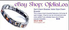 NEW Italian Charm Saints Religious Bracelet USA SELLER FAST FREE SHIPPING!