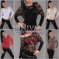 Long Sleeve Evening, Occasion Floral Tops for Women