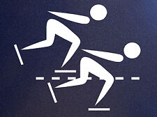 SPEED SKATING Pictogram Skate Skater Vinyl Sticker Decal for car window, wall