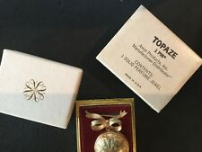 Vintage AVON 1965 Solid Perfume Jewel Locket Pin Extremely Rare IN BOX