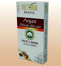Victoria Beauty depilatory strips for the face and bikini Argan /20Pcs
