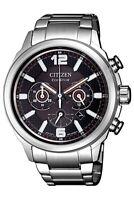 Citizen Eco-Drive Men's CA4380-83E Chronograph Silver-Tone 43.7mm Watch