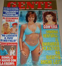 GENTE=1996/31=SIMONA VENTURA=CHRISTIAN PANUCCI=ROBERTO DI DONNA=PAVAROTTI=FALANA