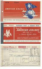 AMERICAN AIRLINES 1947 1955 Tickets Coupons lot
