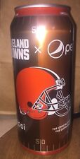 2017 Cleveland Browns NFL Football 16 Ounce Pepsi Can FULL