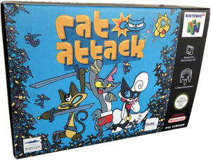 Rat Attack Nintendo 64 - Game Box Made for you N64