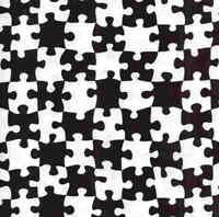 Jigsaw black white Michael Miller  fabric