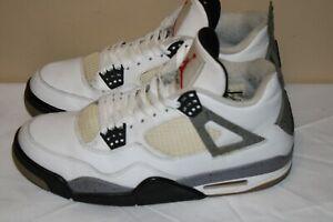Nike Air Jordan 4 IV Retro White Cement 2011 Men's Size 9.5 Sneakers 308497 103