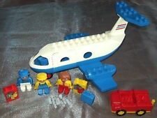 Lego Duplo Flugzeug  Jumbo Jet  Flughafen Pilot  Airport Jetliner Airplane 2678