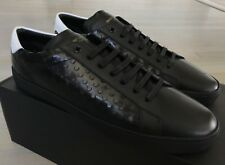600$ Saint Laurent Black Leather Sneakers size US 13, Made in Italy