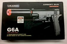 Ukarms Metal G6A  Spring Airsoft Pistol with Laser & Barrel Extension