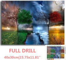 US Full Drill Four Seasons Tree Landscape 5D Diamond Painting Cross Stitch Hot