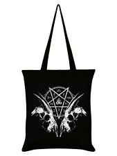 Tote Bag Goat Skull Pentagram Black 38x42cm