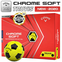 Callaway Chrome Soft Truvis Golf Balls Dozen Pack Yellow/Black - NEW! 2020