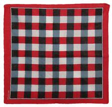 "Wholesale Lot 12 Red/Black/White Plaid Checkered 100% Cotton 22""x22"" Bandana"