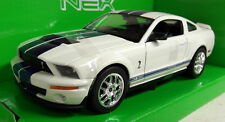 Nex models 1/24 Scale 22473W 2007 Shelby Cobra GT500 White Diecast model car