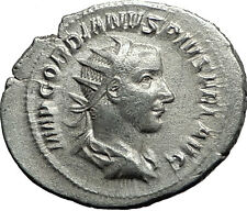 GORDIAN III 240AD Authentic Genuine Ancient Silver Roman Coin Felicitas  i59067