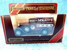 MATCHBOX MODELS OF YESTERYEAR Y22 1930 MODEL A FORD VAN [SPRATT'S]
