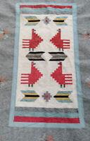 Tapis Kilim oriental, dessins géométriques,en laine fait main, 120 x 170 cm