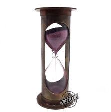 Vintage Brass Desk Sand Timer Hourglass Maritime Sand-timer Gift