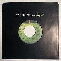 Paul & Linda McCartney / Uncle Albert / Pual ERROR / 1971 Apple 45 / MINT!