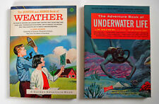 Lot of 2 books The Question & Answer Book of Weather /The Avent. Book of UW Life