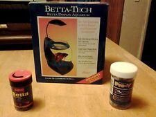 BETTA-TECH BETTA FISH DISPLAY AQUARIUM WITH NITE-GLOW ILLUMINATION-BONUS ITEMS