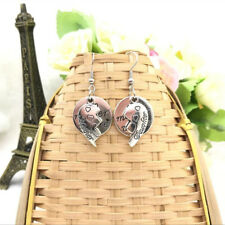 Dangle Earrings Best Friend Gifts Mother and Daughter Heart Earrings Charm