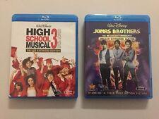 Lot 2 Blu-ray Walt Disney High School Musical 3 Senior Year Deluxe Jonas Bros 3D