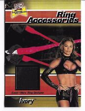 IVORY WWF WWE DIVA 2001 FLEER RING WORN ACCESSORIES COSTUME CARD