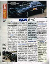 Publicité Advertising 1990 Lexus LS 400