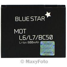 BATTERIA ORIGINALE BLUE STAR 800mAh PILA LITIO PER MOTOROLA L6 L7 SLVR L9 V1050