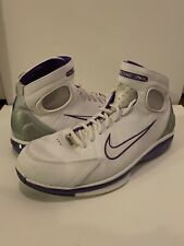 Nike Air Zoom Huarache 2K4 KB White Silver Purple Sz 10.5 511425-115 Men Vintage