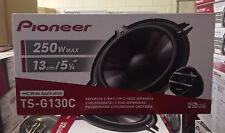 "Pioneer TS-G130C 13cm 5.25"" 2 way component Car Audio Speakers inc grilles 250w"
