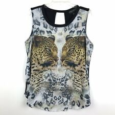 e814bfc446ef Forever 21 Plus Size Womens Size XL Black Cheetah Graphic Print Tank Top