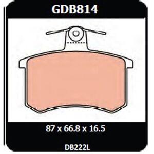 Audi 90 Quattro 2.2 1985-1987 TRW Rear Disc Brake Pads GDB814 DB222
