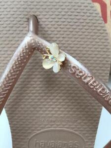 Original Genuine HAVAIANAS  Flip Flops Slim Crystal personalized charms colors