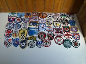 Lot of 50 Vintage 1990's Embroidered Soccer Club Patches Mostly PA & East Coast