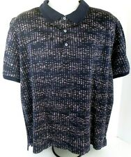 Men's Robert Graham 3Xl Multi Color Geometric Polo Short Sleeve Shirt