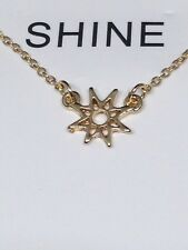 Vintage Gold Style Starburst Wish Necklace You Light Up The World
