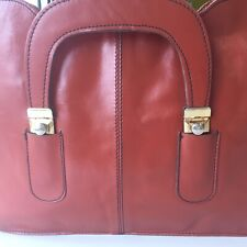 Vtg Briefcase Portfolio Business Case Leather Shoulder Messenger Laptop Bag