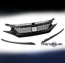 2016-2017 HONDA CIVIC 10TH SEDAN TYPE-R STYLE HONEYCOMB MESH GRILLE INSERT BLACK