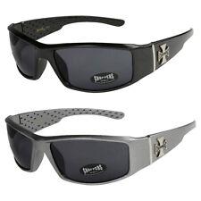 2er Pack Locs 6608 Choppers Motorrad Brille Sonnenbrille Männer Frauen schwarz