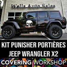 Kit stickers crâne punisher portières jeep wrangler rubicon sahara x2