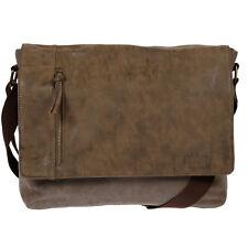 Harold's Umhängetasche Canvas Tasche Schultertasche Messenger Braun Business UNI