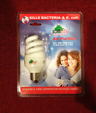 IonLite Full Spectrum Power 13W=60W Light Bulb Ionizer/Air Purifier Pet Odor Go!