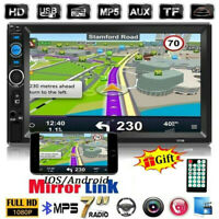 7'' 2DINCar Radio Stereo Bluetooth FM USB TF Double Touch Screen  MP5 Player