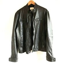 Levi's Made & Crafted Men's Black Leather Biker Jacket, Size 3 (42 inch chest).